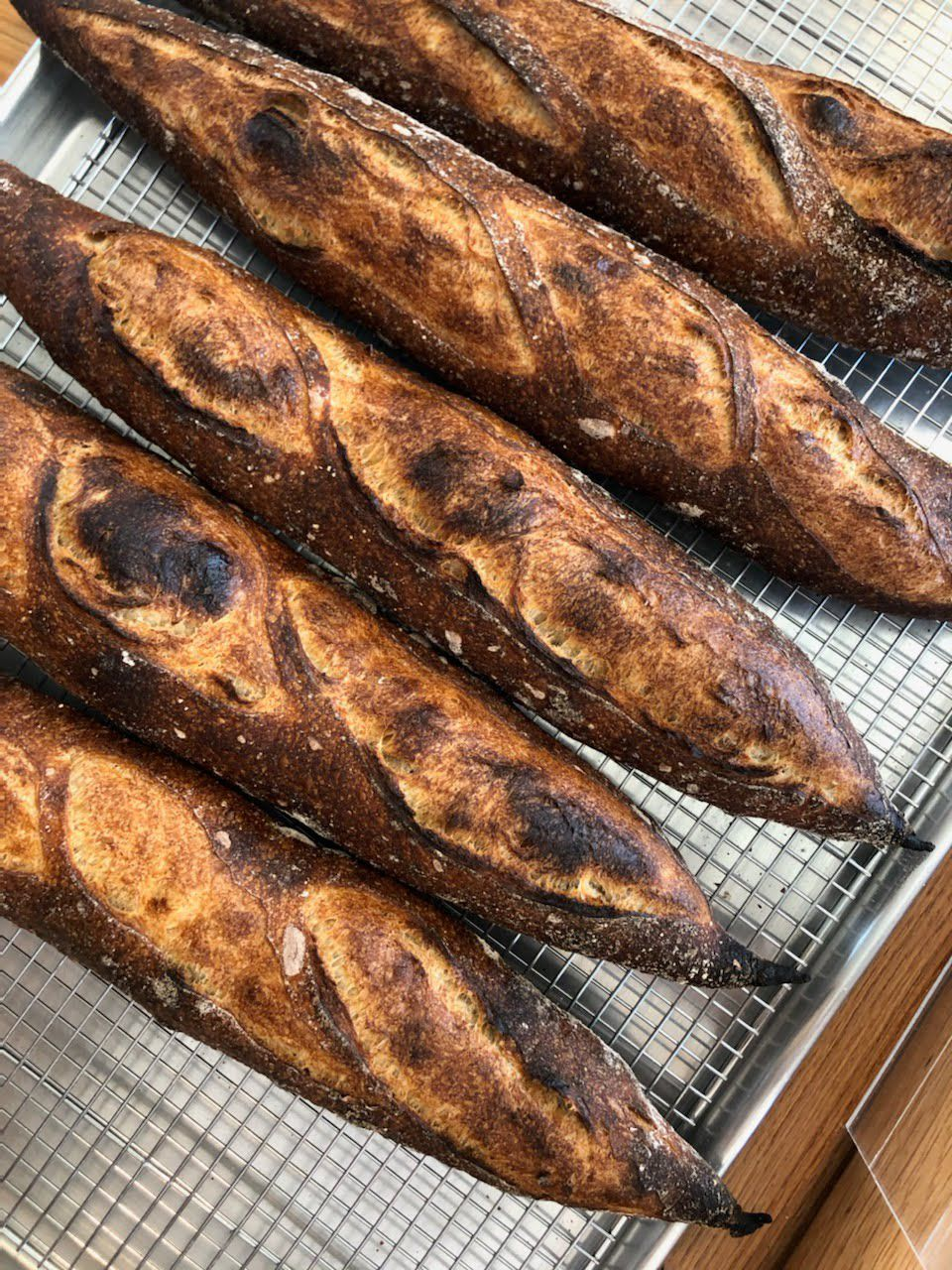 Rows of baguettes
