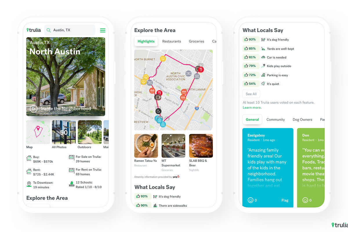 trulia neighborhoods lets you see crowdsourced local reviews of an