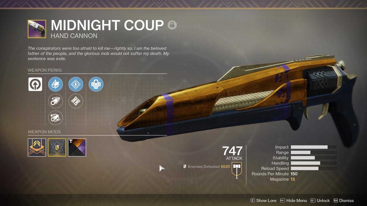 Destiny 2 Midnight Coup