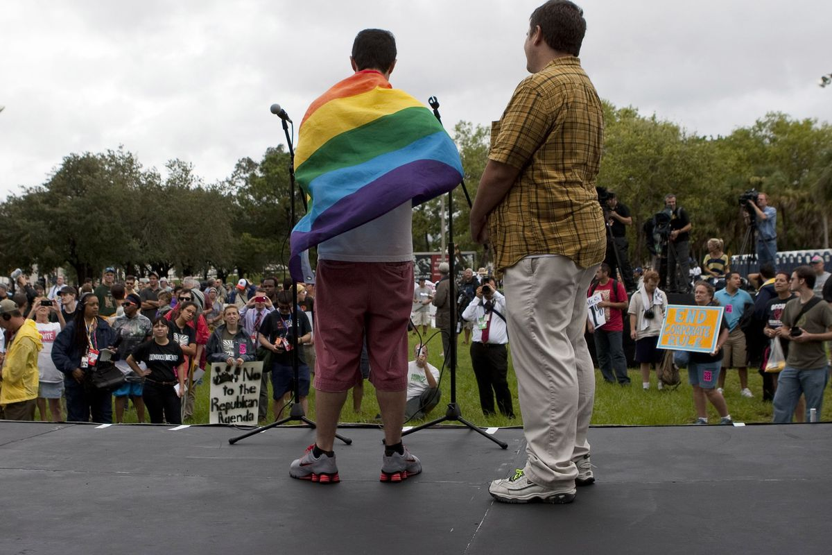 LGBT protesters in Florida.