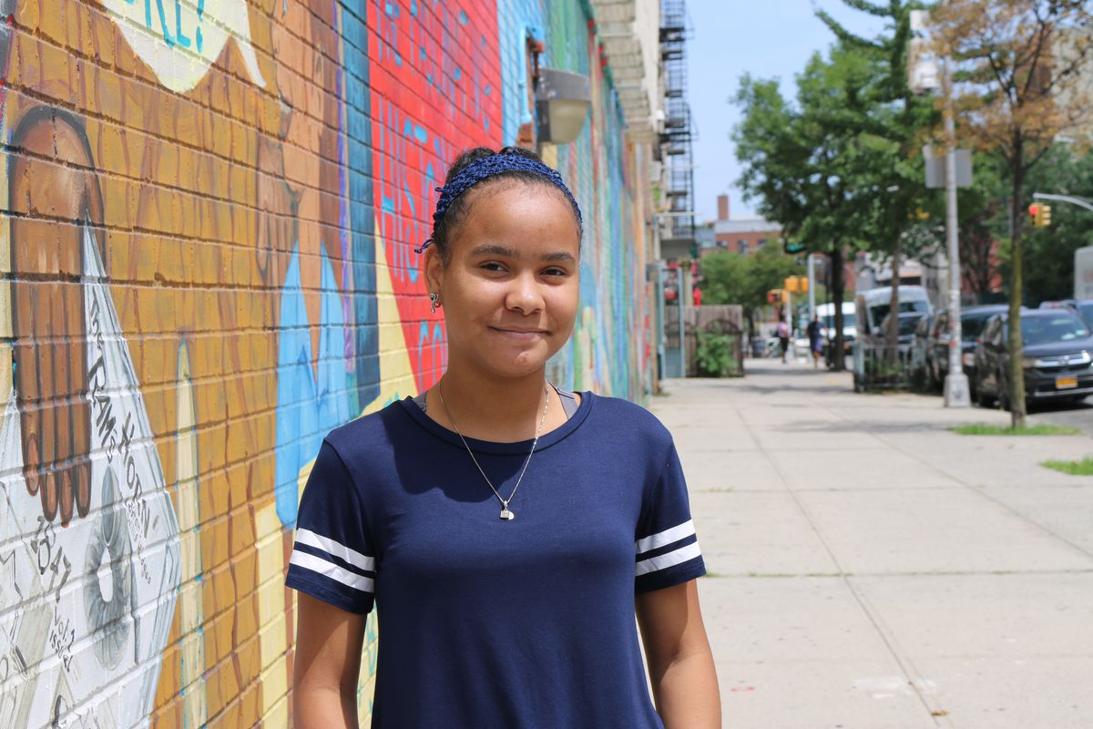 Anyely Rijo, an immigrant from the Dominican Republic, is on M.S. 50's bilingual debate team.