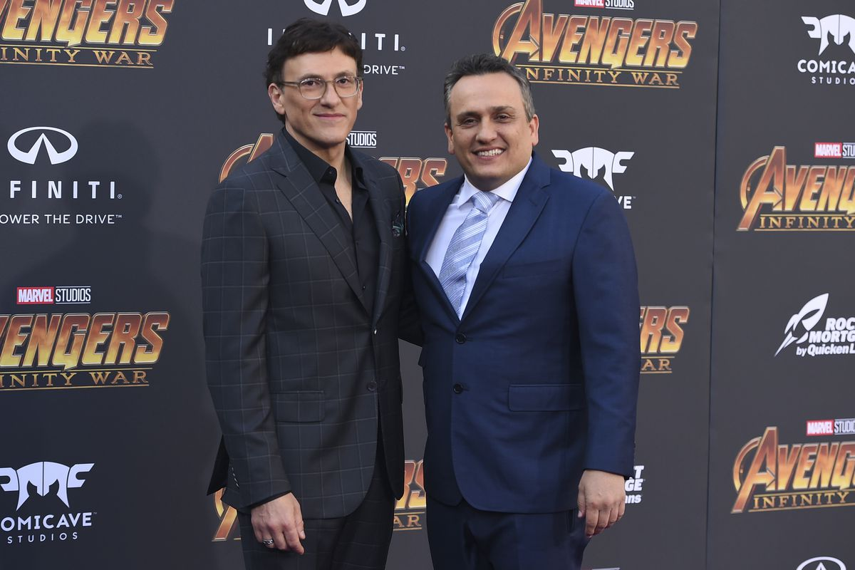 """Anthony Russo, left, and Joe Russo arrive at the world premiere of """"Avengers: Infinity War"""" on Monday, April 23, 2018, in Los Angeles."""