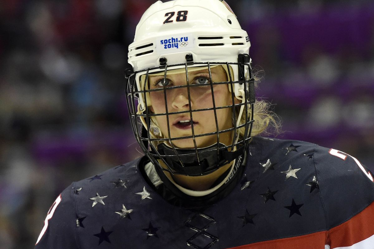 Amanda Kessel has not played since the 2014 Olympics.
