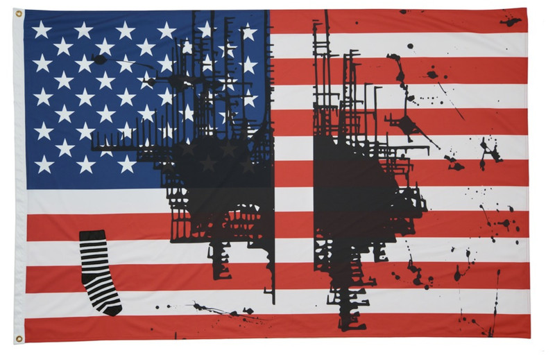 Screen_Shot_2018_07_23_at_2.32.59_PM An artist painted on the American flag. The governor of Kansas wants her work destroyed.