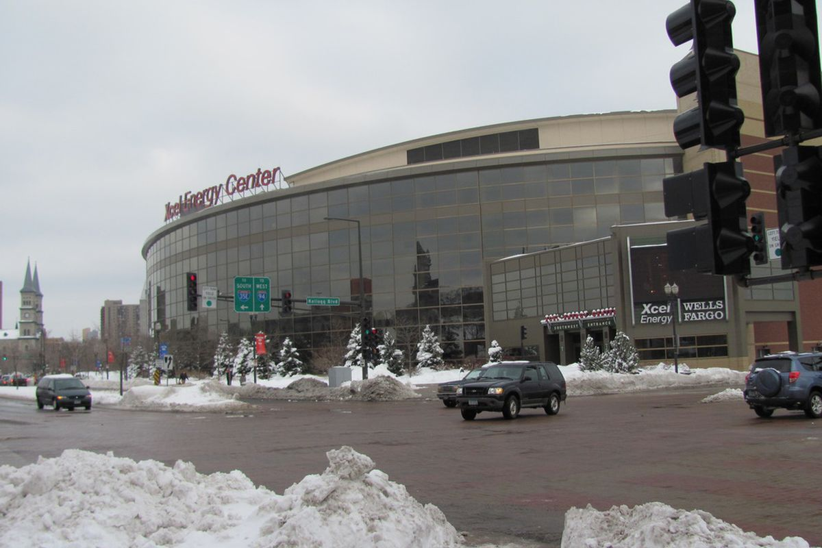 Xcel Energy Centre in downtown St. Paul Minnesota. Photo by Lisa McRitchie all rights reserved.
