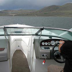Boating on the Jordanelle Reservoir.