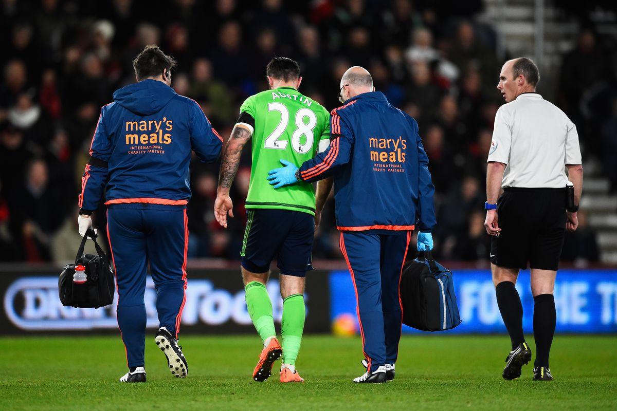 Sidelined: Saints striker Austin is facing a spell in the treatment room