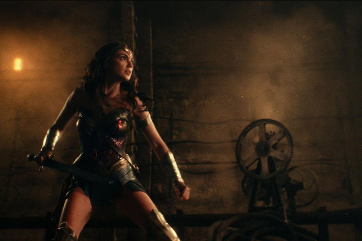 "Gal Gadot as Wonder Woman in ""Justice League."""