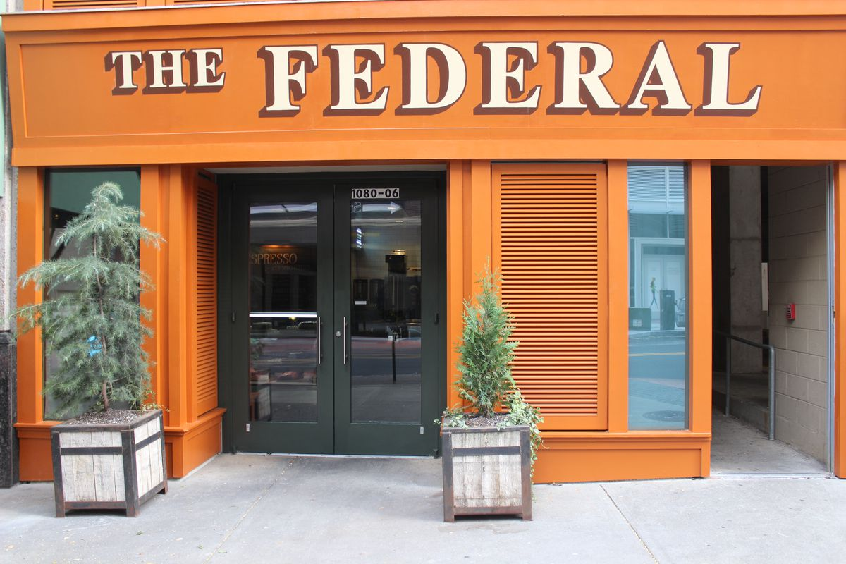 Exterior signage at The Federal.