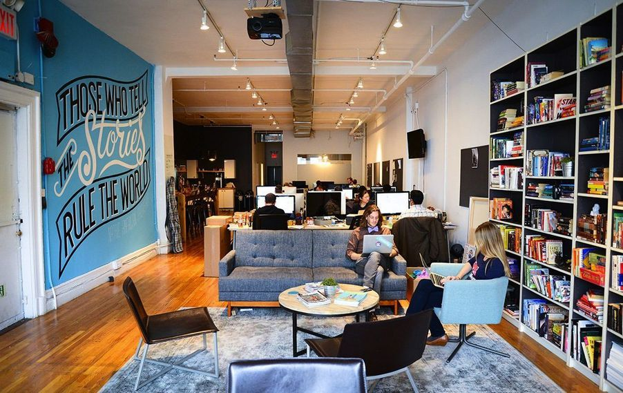 The Office Spaces Of Freelance Journalist Platform Contently
