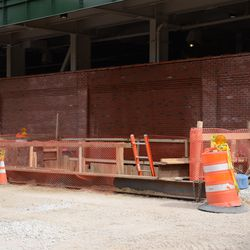3:52 p.m. The excavation site on Waveland, behind the left-field video board -