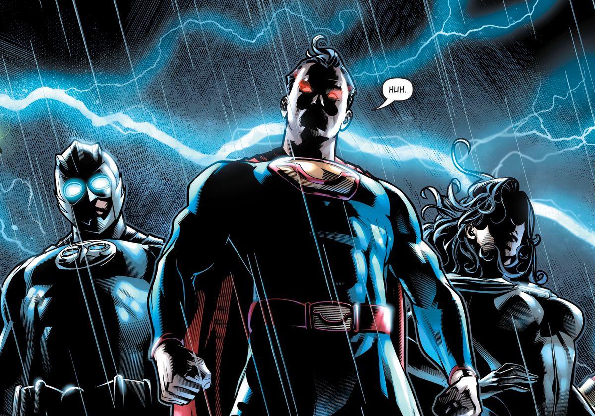 Ultraman, Owlman, and Superwoman, the Trinity of Earth 3, in Superman #, DC Comics (2019).