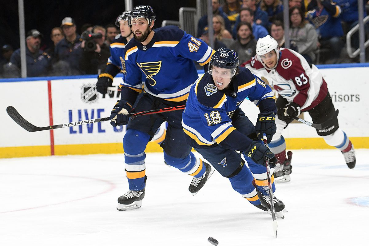 NHL: OCT 21 Avalanche at Blues
