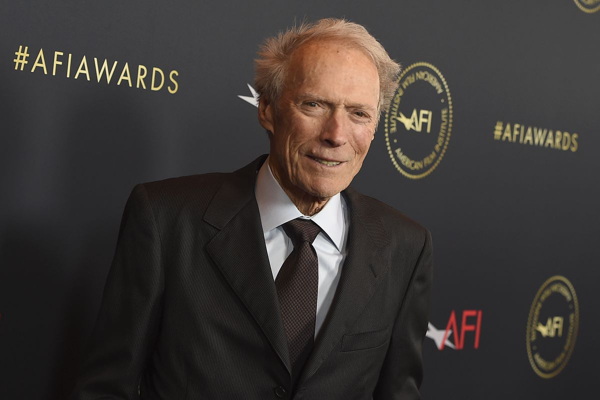 Clint Eastwood arrives at the 2020 AFI Awards at in January in Los Angeles.