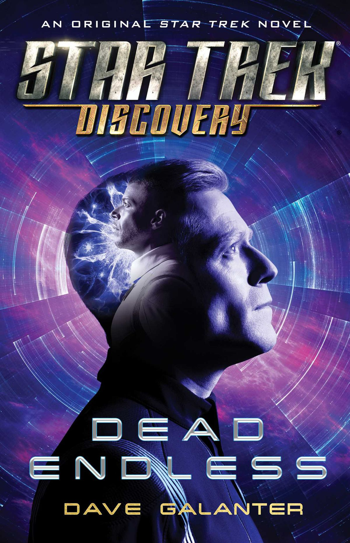 Star Trek Discovery: Dead Endless by Dave Galanter cover: Stamets in profile looking up