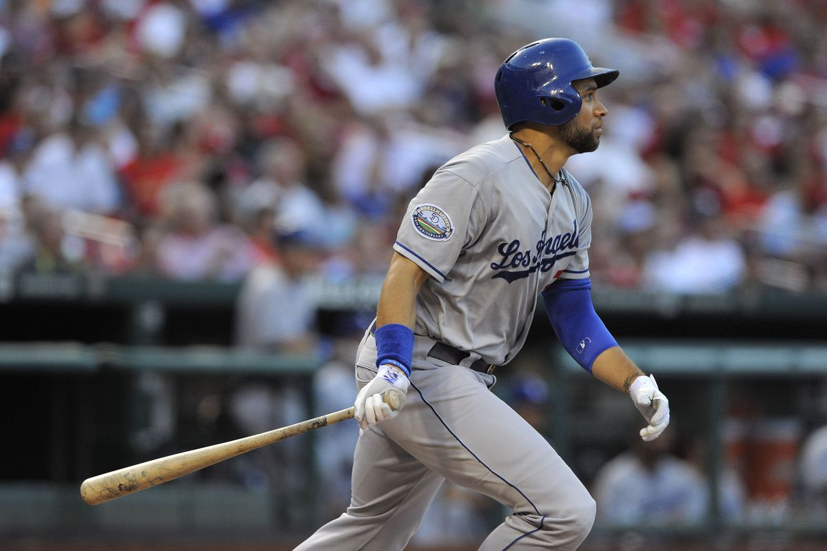James Loney gets the start at first base for the Dodgers on Saturday against the right-handed Ricky Nolasco.