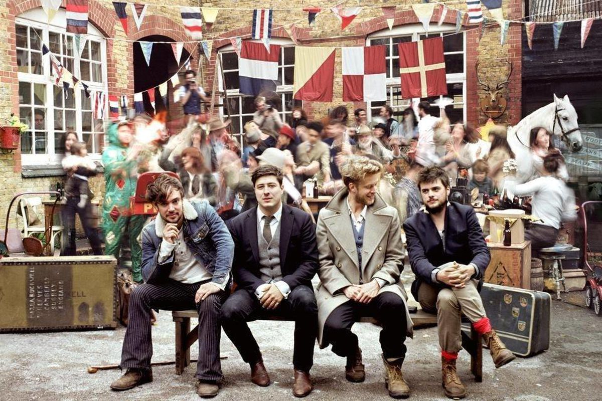 """This CD cover image released by Glassnote Records shows the latest release by Mumford & Sons, """"Babel."""""""