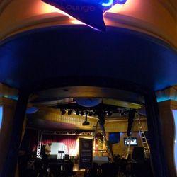 The entrance to the Indigo Lounge.