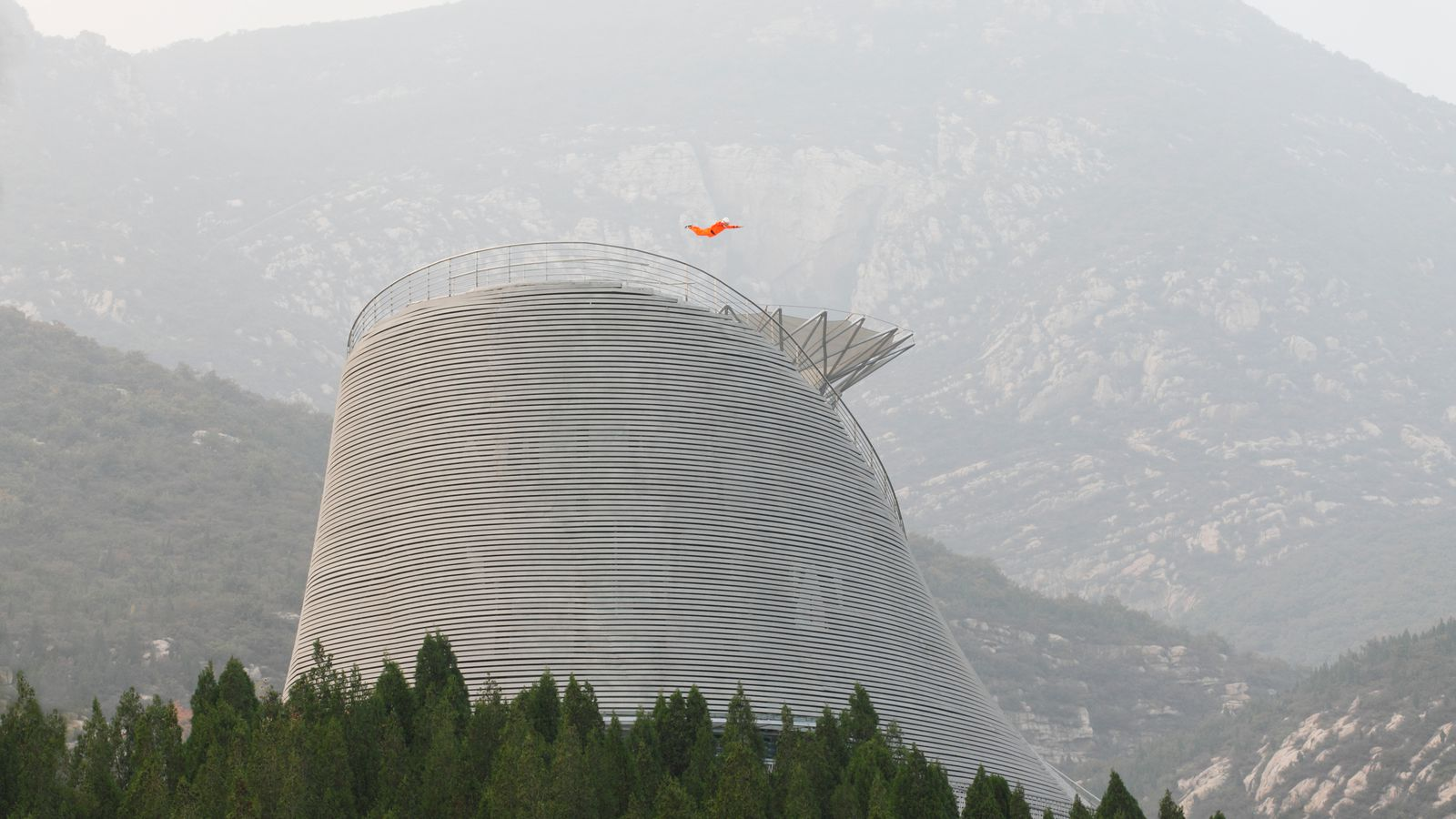 Architect Builds Giant Wind Turbine Temple For Shaolin Monks Curbed