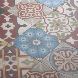 Mosaic tiles near the entrance.