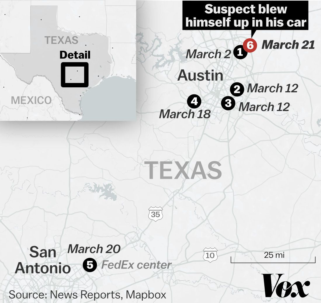 Austin bombings suspect dead: what we know - Vox