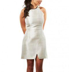 "<b>Porter Grey</b> Metallic Racerback Dress, <a href=""http://americantwoshot.com/women/dresses/porter-grey-metallic-racerback-dress"">$450</a> at American Two Shot"