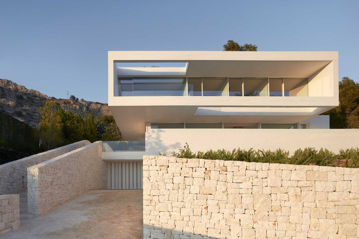 Concrete House In Spain Is Beautifully