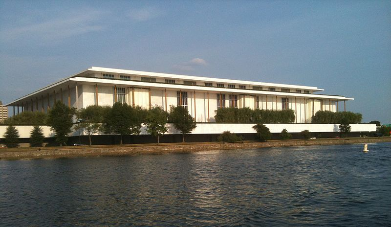 A building near a waterfront in Washington D.C.
