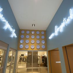 """Artist Bert Rodriguez installed rows and rows of clocks near Bloomies on the second level. The piece is named """"Never Forget Where."""""""