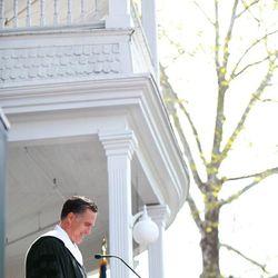 Mitt Romney addresses graduates at Southern Virginia University's commencement exercises on April 27, 2013.