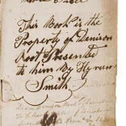An inscription signed by Orson Pratt appears in a first edition of the Book of Mormon.