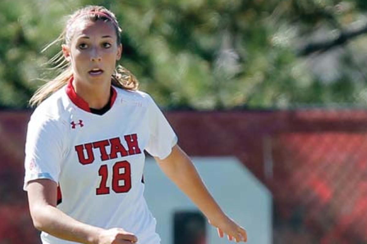 Megan Trabert scored a goal in Utah's 2-0 win over the weekend.