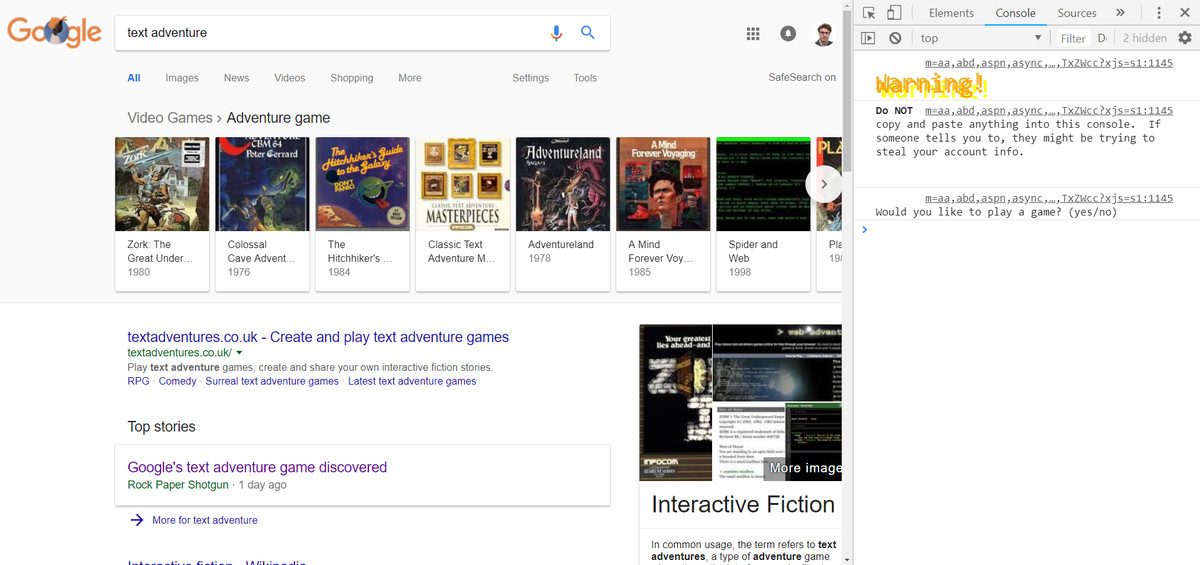 How To Find And Play Google Com S Secret Adventure Game The Verge