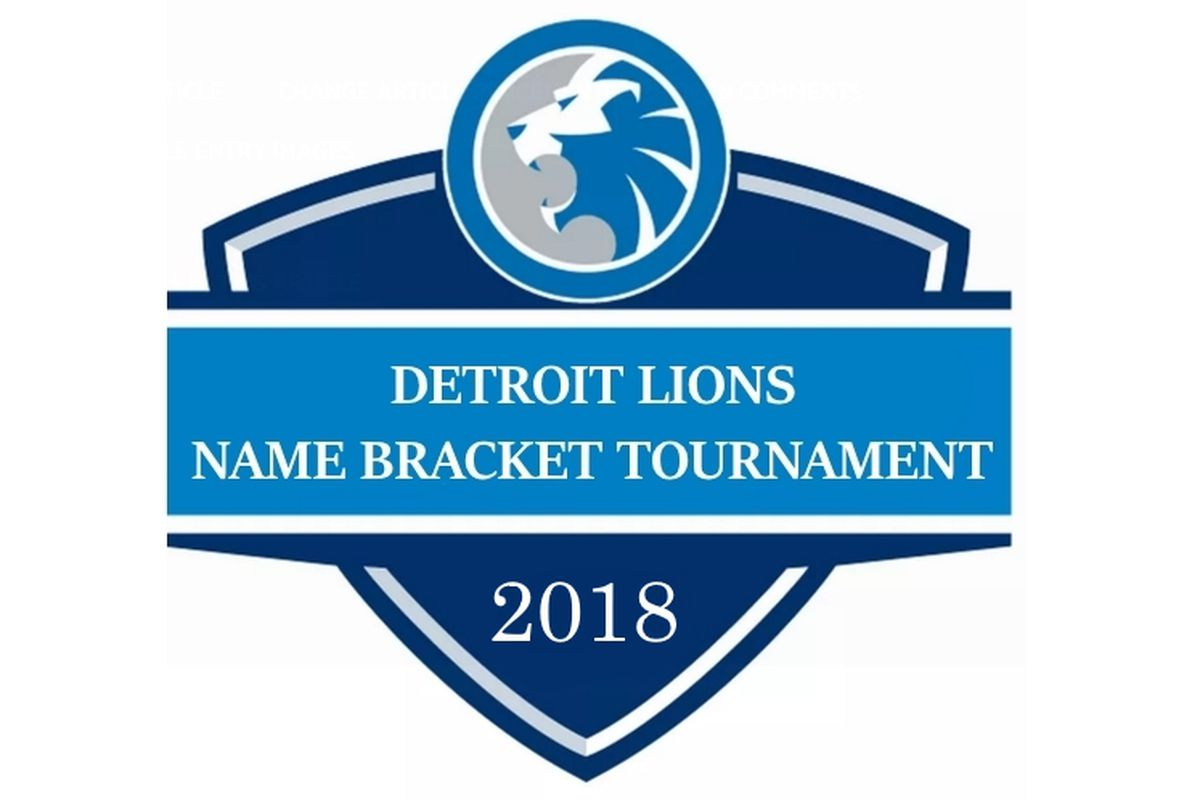 Detroit Lions Name Bracket Tournament Round 1: Rod Wood region ...