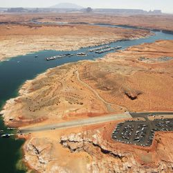 Search continues for missing boaters on Lake Powell  Friday, June 21, 2013. One woman was killed and two other women were reported missing and presumed dead  after an accident between a motorboat and a houseboat.