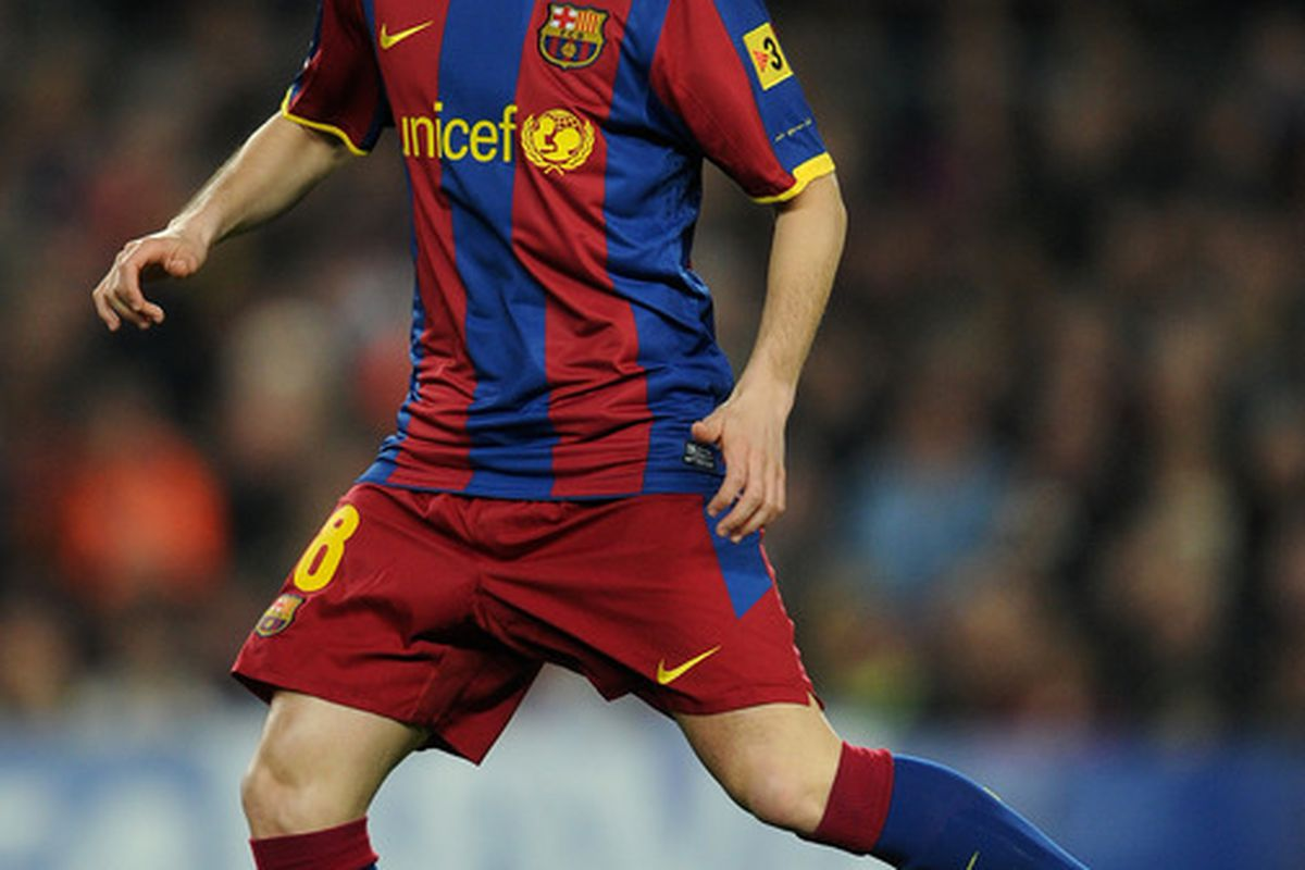 Andres Iniesta really likes to play against Barcelona's next opponent.