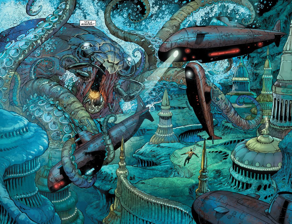 Aquaman's ally Topo, in his post-2011 New 52 incarnation.
