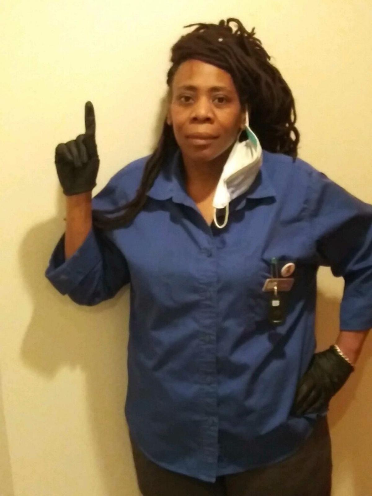 Kimmie Jordan, a housekeeper at the Cass Hotel.