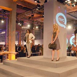 The QVC models take their turn on the catwalk. Yeah, on the catwalk.