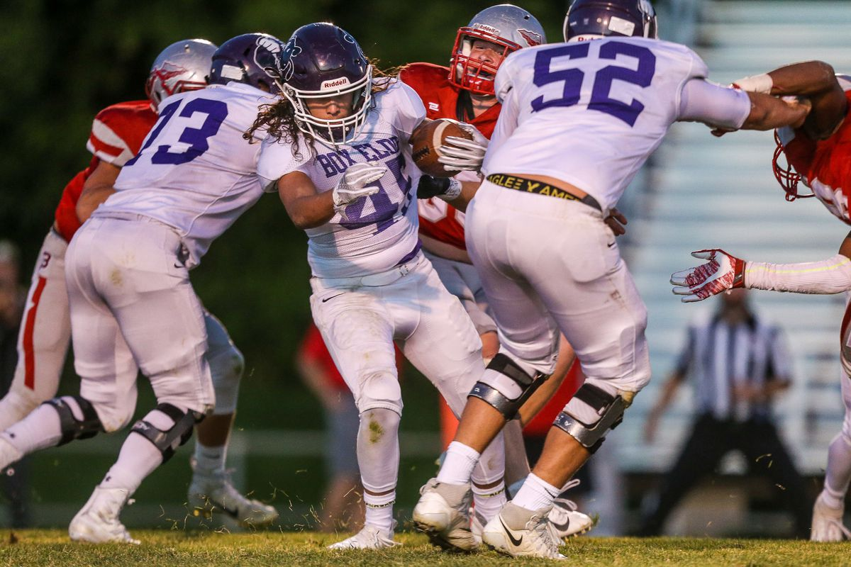Box Elder High School's Bernard Pena (45), shown here against Bountiful in Week 5, had another great performance in Week 6 to lead the Bees to a triple overtime win over Viewmont.