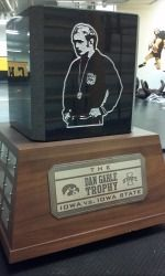Dan Gable traveling trophy