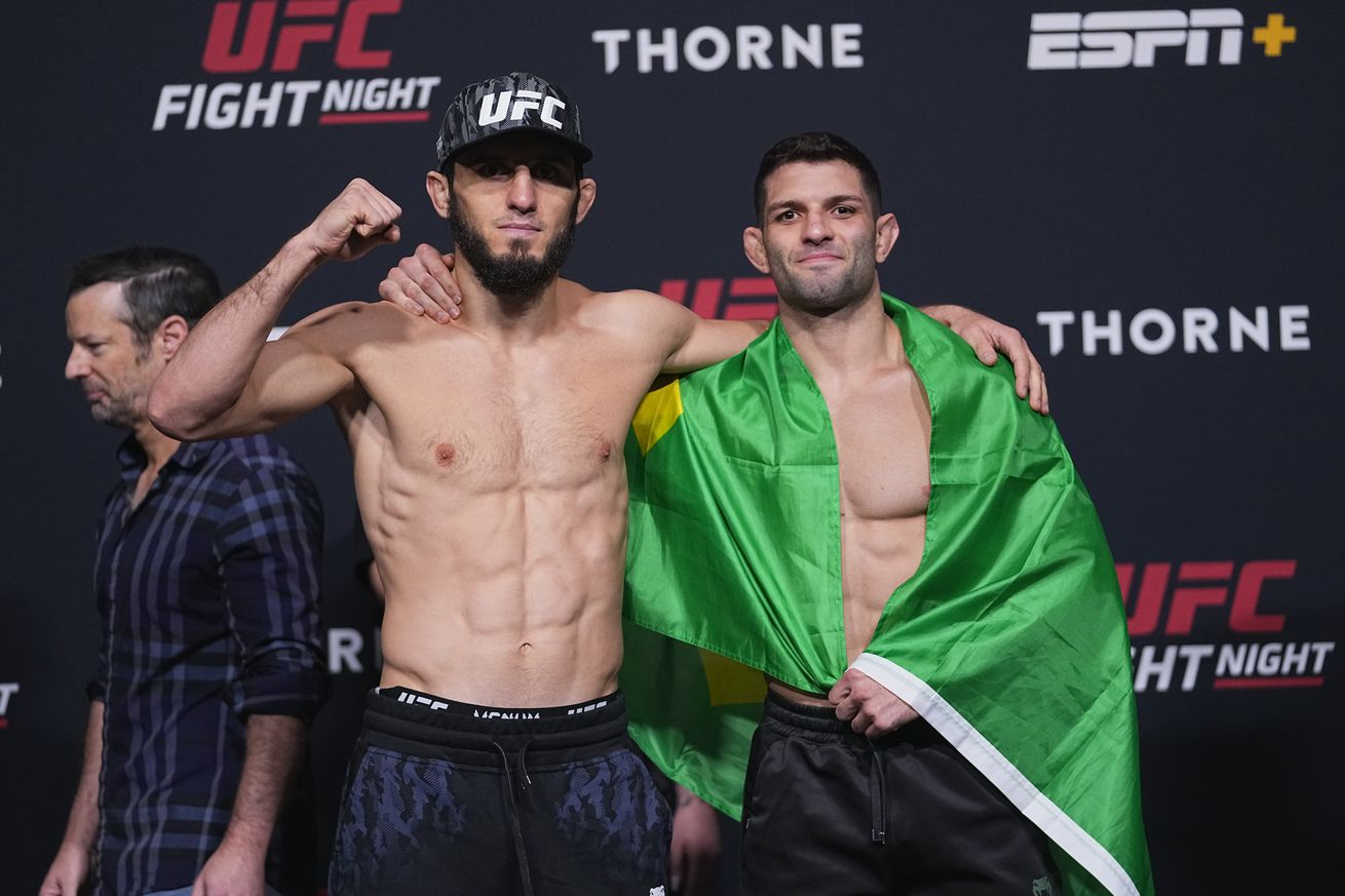 UFC Fight Night: Makhachev v Moises Weigh-in