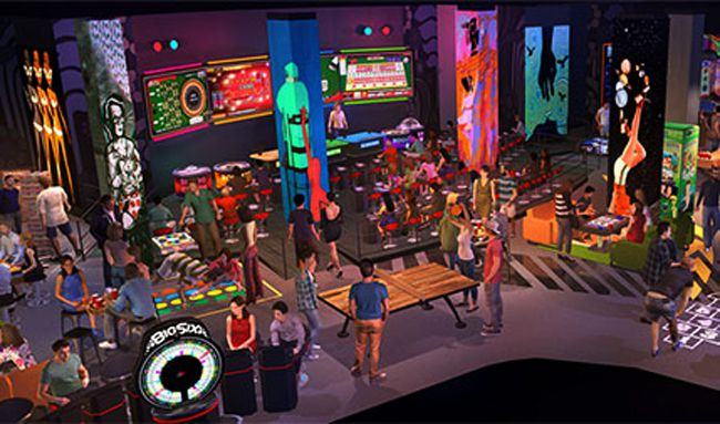 Level Up lounge rendering