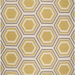 """4) A stand-out rug. Cover a hideous carpet in your rental or protect your toes from a frigid hardwood floor. <a href=""""http://grossmanfurniture.com/p/868/surya-rugs-fallon#sthash.BY1uDf8R.dpuf"""">Fallon Reversible Rug</a>, $399 at Arch Street's Grossman Furn"""