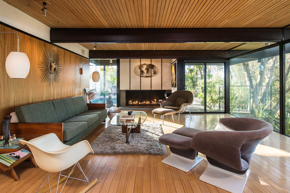 Midcentury modern by buff and hensman for sale for for Modern post and beam homes