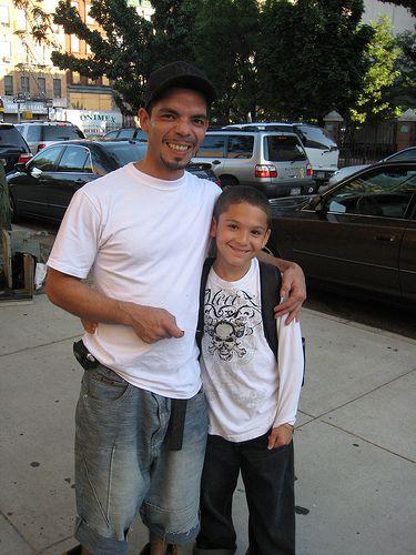 Reynaldo Cruz with son, Juan.