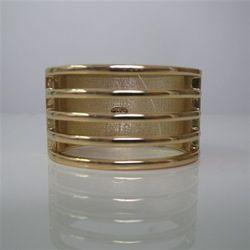 Sharp clean lines=stellar design. Solid Cage Bracelet - Marlyn Schiff, $58. Pileggi Boutique.