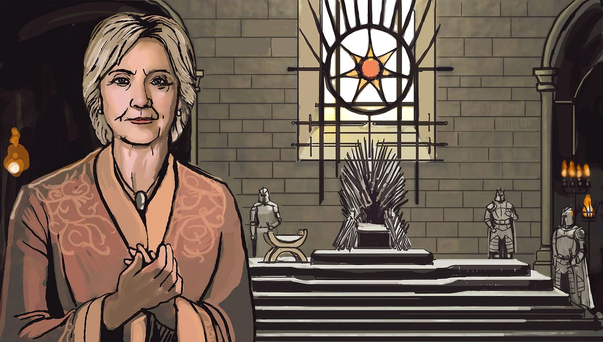 Hillary Clinton imagined as Cersei Lannister