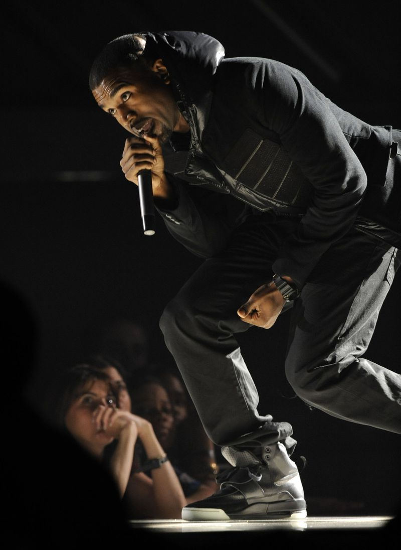 The Nike Air Yeezy 1 Prototypes worn by West during this 2008 performance at the Grammy Awards were recently acquired by social investing platform Rares.