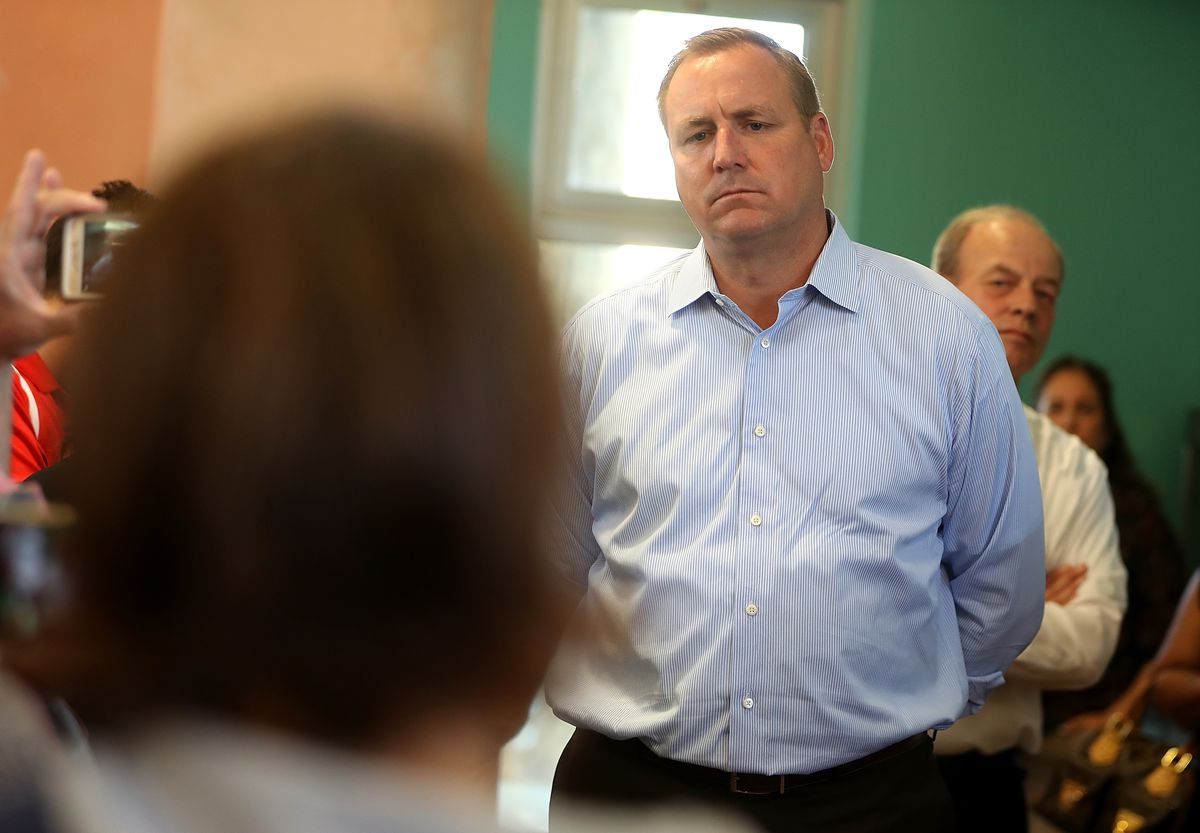 GOP House Rep. Jeff Denham Holds Town Hall Meeting In Riverbank, California on Partisan Viewpoint